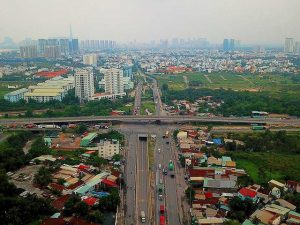 My Thuy intersection, an important project is expected to be completed in 2019. Photo: THANH VAN